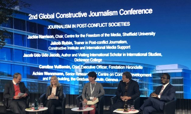 CFOM join panel at the Global Constructive Journalism Conference in Geneva