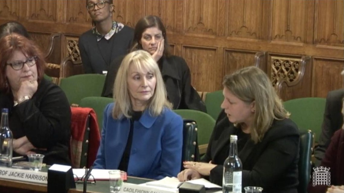 Jackie Harrison, an internationally recognised expert on media freedom, journalism safety and impunity, gives evidence at the Foreign & Commonwealth Office's Foreign Affairs Committee on Global Media Freedom