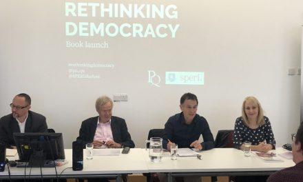 "Jackie Harrison joins SPERI to launch new book ""Rethinking Democracy"""