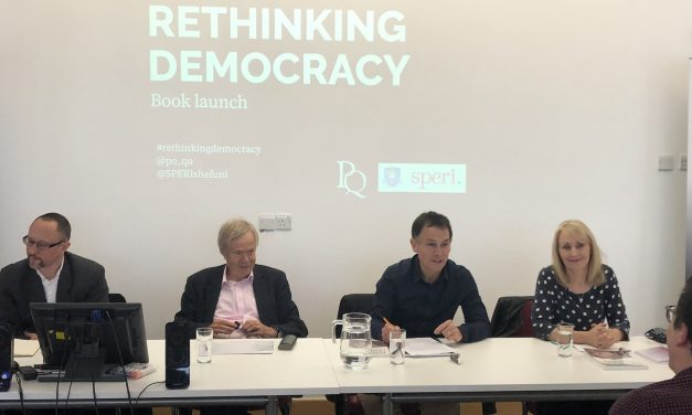 """Jackie Harrison joins SPERI to launch new book """"Rethinking Democracy"""""""