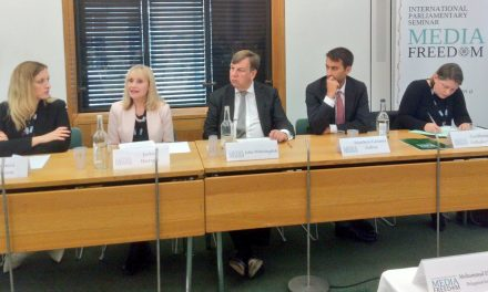 Jackie Harrison represents CFOM at the British Group Inter-Parliamentary Union seminar on Media Freedom
