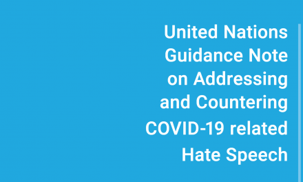 CFOM fellow Sejal Parmar has worked as an expert consultant on new UN Guidance Note on Addressing and Countering COVID-19 related Hate Speech
